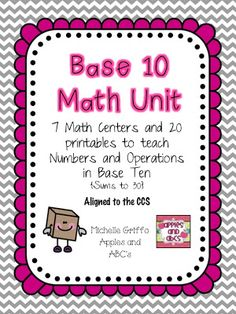 Math with Base 10 Blocks (from Apples & ABC's; not free)