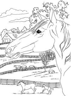 coloring page on the farm kids n fun embroidery redwork 2