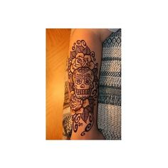 Sugar Skull Tattoos via Polyvore