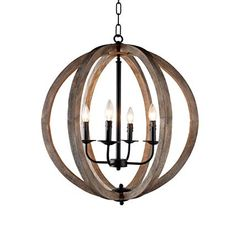 """Stanton Candle-Style Rustic Chandelier Wood Frame Orb Foyer Chandelier """" H x W Entryway Light Fixtures, Entryway Chandelier, Entryway Lighting, Farmhouse Chandelier, Rustic Chandelier, Pendant Chandelier, Rustic Lighting, Ceiling Light Fixtures, Chandelier Lighting"""