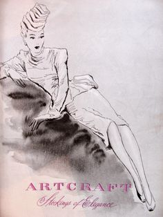 Artcraft, Stockings of Elegance: Fashion Illustration, mid-1940s