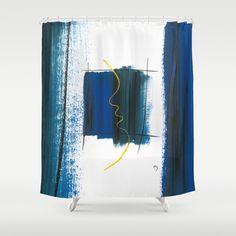 Character No6 Shower Curtain by Marina Kanavaki - $68.00