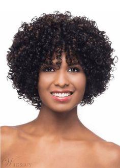 Vivica Fox Woopi Synthetic Wig final Sale, 30 33 Piano blend of Medium Dark Brown, Copper Blonde, Dark Auburn Curly Bangs, Wigs With Bangs, Curly Hair Styles, Natural Hair Styles, Natural Wigs, Short Afro, Short Wigs, Short Bob Hairstyles, Hairstyles With Bangs