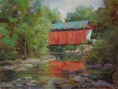 """Covered Bridge,"" original oil painting, 12x16, Available at Rich Timmons Studio & Gallery, 3795gallery.com"