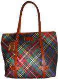 Women's Dooney & Bourke Purse Handbag Medium East West Shopper Red/Green Plaid