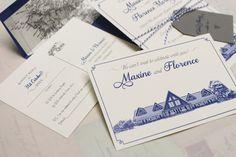 Travel Themed; Postcard Style Wedding Invitations