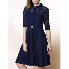 SHARE & Get it FREE | Elegant Solid Color 3/4 Sleeve Lace Design Cut Out Midi Dress For WomenFor Fashion Lovers only:80,000+ Items·FREE SHIPPING Join Dresslily: Get YOUR $50 NOW!