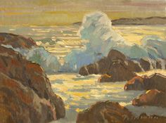 Sunset Surf by Mark Fehlman Oil ~ 12 x 16