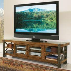 Riverside Sierra 80 in. TV Console - Landmark Worn Oak - TV Stands at Hayneedle