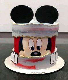 Bolo Mickey Baby, Bolo Do Mickey Mouse, Minnie Mouse Birthday Cakes, 40th Birthday Cakes, Birthday Fun, Cupcakes Mickey, Mickey Cakes, Cupcake Cakes, Disney Parties
