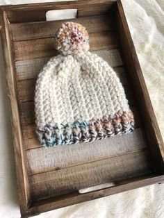 Baby Knitting Patterns Beanie Pattern: The Pebbles Beanie - Evelyn And Peter Crochet Crochet Adult Hat, Crochet Beanie Pattern, Knit Or Crochet, Crochet Scarves, Crochet Crafts, Crochet Clothes, Free Crochet, Crochet Dolls, Chunky Crochet Hat