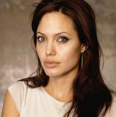 Angelina Jolie - dark auburn hair