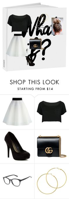 """""""what if?"""" by baby-bre ❤ liked on Polyvore featuring Chicwish, WithChic, Michael Antonio, Gucci, Kam Dhillon and Melissa Odabash"""