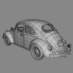 Hard Surface Modeling, 3d Modeling, Low Poly Car, 3ds Max Tutorials, Rhino 3d, 3d Tutorial, Volkswagen, Mesh, Animation