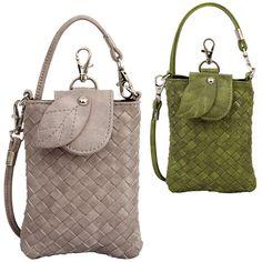 PHB2839 B Ivy cross-stitch weave cellphone holder pouch - Wholesale Handbags, wholesale fashion