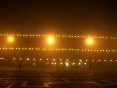 St. Mark's Square on a very foggy night.  Spectacular. abeautifulwomaninvenice.com