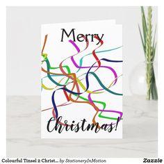 Colourful Tinsel 2 Christmas Holiday Card #Jesus Christ #Christmas #Holiday season Holiday Cards, Christmas Cards, Christmas Holidays, Merry Christmas, Christen, Joyful, Awesome Stuff, Peace And Love, Jesus Christ
