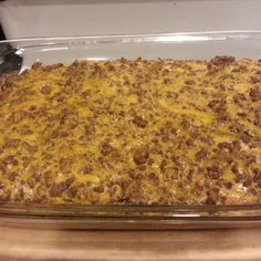 Big Macs casserole (Great! May increase the Thousand Island dressing a bit and reduce the chicken bouillon.)