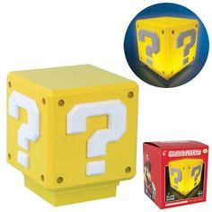 Super Mario Bros. Mini Question Block Light - Paladone Products - Super Mario Bros. - Lamps at Entertainment Earth