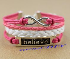 Ancient silver infinity believe that bracelet the by eternalDIY, $3.59