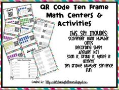 QR Code Math Centers and Activities: Ten Frames (Common Co