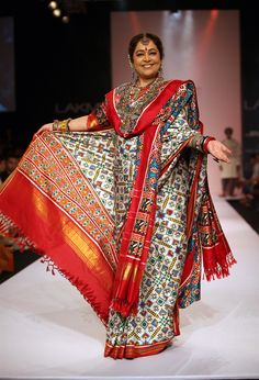 Love the colors- Kiron Kher for Gaurang Shah - TheBigFatIndianWedding.com