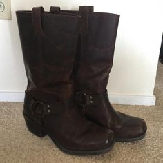 Shop Women's Cabelas Brown size 9 Combat & Moto Boots at a discounted price at Poshmark. Very lightly worn. Black Combat Boots, Mid Calf Boots, Moto Boots, Riding Boots, Dark Brown, Calves, Female, Shoes, Fashion
