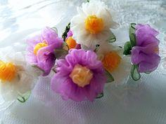 KURDELE OYALARI TESBİH BAŞLIĞI ( menekşe çiçeği)
