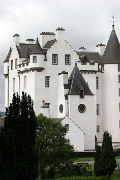 Blair castle from gardens, Scotland