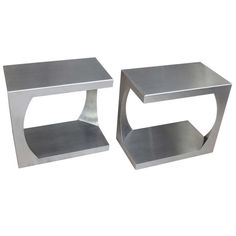 Pair of Side Tables by Van Heusden | From a unique collection of antique and modern side tables at http://www.1stdibs.com/furniture/tables/side-tables/