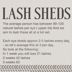 But we never lash baby lashes !     Lash cycle