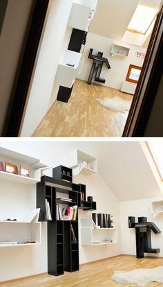 Robotshelves in an office #robot #robotdesign #design #shelves #shelf #robotshelf #robotical #robots #officedesign #robotshelves