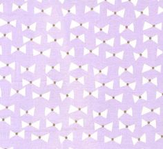 Lavender Bows with Gold Metallic Centres from Wee Sparkle Collection by Michael Miller Fabrics ~ Weave and Woven by WeaveandWoven on Etsy
