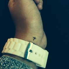 Cross tattoo. so small and subtle and cute
