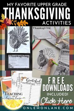 FREEBIES + My Favorite Thanksgiving Activities for Classroom During November Thanksgiving Art Google