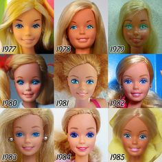 The Fascinating Evolution Of Barbie's Face Over The Past 56 Years - DesignTAXI.com