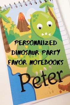 Dinosaur Party Favor Personalized Notebook – DIY Party Mom Dinosaur Party Favors, Personalized Notebook, Diy Notebook, Colorful Pictures, Diy Party, Free Printables, Education, Mom, Notebooks