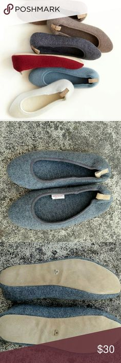 New Red Envelope cashmere ballet slippers. Med New , never worn. 100% cashmere. Grey. Size medium 7/8 Red Envelope Shoes Slippers