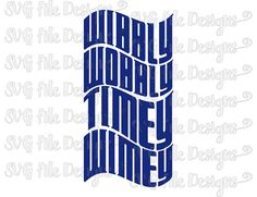 Wibbly Wobbly Timey Wimey Doctor Who Shirt Decal Cut File / Clipart in Svg, Eps, Dxf, Png, and Jpeg for Cricut & Silhouette