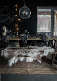 Shag Rug, Cabin, Interiors, Dining, Kitchen, House, Home Decor, Style, Shaggy Rug