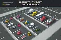 Ultimate Low Poly City Cars Pack by CreativeeArt on @creativemarket