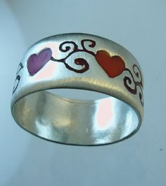 Hearts  ring silver ring