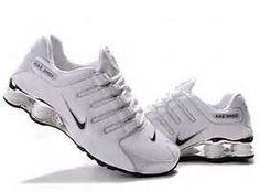 Nike Shox NZ Plating Womens Trainers Shoes Black White