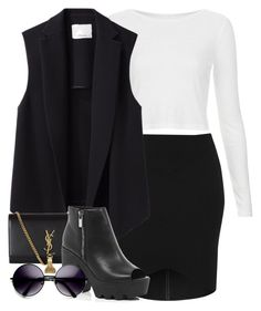 """""""Untitled #3234"""" by wallenbergnikki ❤ liked on Polyvore featuring Topshop, 3.1 Phillip Lim, Yves Saint Laurent, River Island and ZeroUV"""