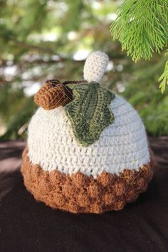 Acorn Baby Hat Crochet Pattern by MyBabyDesigns on Etsy, $4.99
