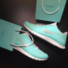 """Tiffany blue shoes for the NWM.  These are the Nike Free 3.0 v4 Women's Running Shoe in the color """"Tropical Twist."""" Currently Nike is selling them for $100 in their store."""