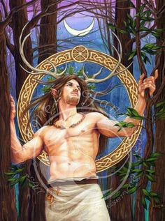 The God Cernunnos - the Horned One