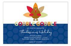Gobble Gobble Invitation from Polka Dot Design
