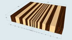 Making a End Grain Cutting Board : 7 Steps (with Pictures) - Instructables Cool Woodworking Projects, Woodworking Joints, Woodworking Workshop, Woodworking Furniture, Fine Woodworking, Woodworking Organization, End Grain Cutting Board, Custom Cutting Boards, Diy Cutting Board