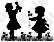 Little girls papercut